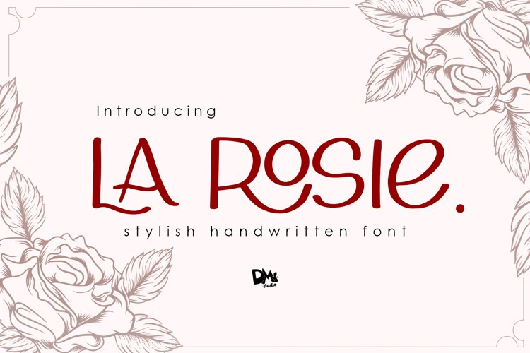 La Rosie - Stylish Handwritting Font example image 1