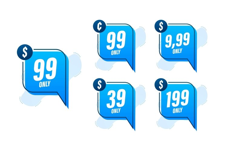 Discount sticker. Template with 99 only. Vector template example image 1