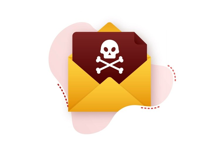 Red email virus. Virus, piracy, hacking and security, protec example image 1