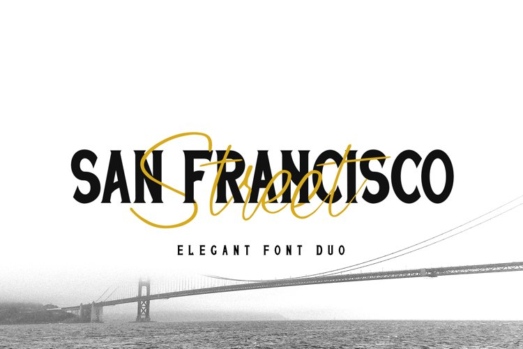 San Francisco Street Font Duo example image 1