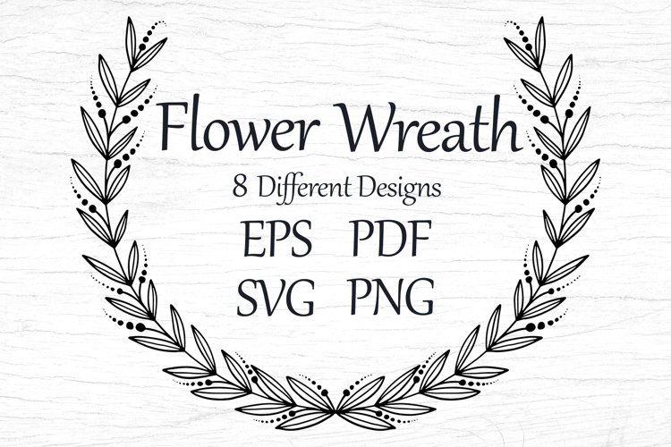 Wreaths template with flowers, SVG, EPS, PNG, PDF t-shirts