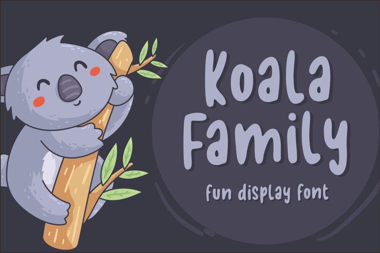 Koala Family - Fun Display Font example image 1