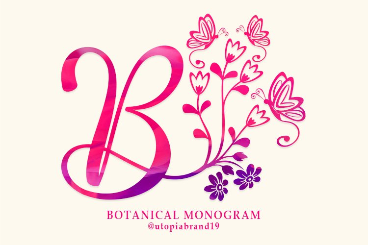 Botanical Monogram example image 1