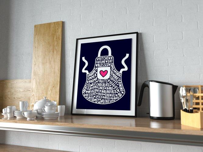 Apron svg, kitchen svg, cooking svg, cook svg, kitchen decor svg, kitchen towel svg example 1