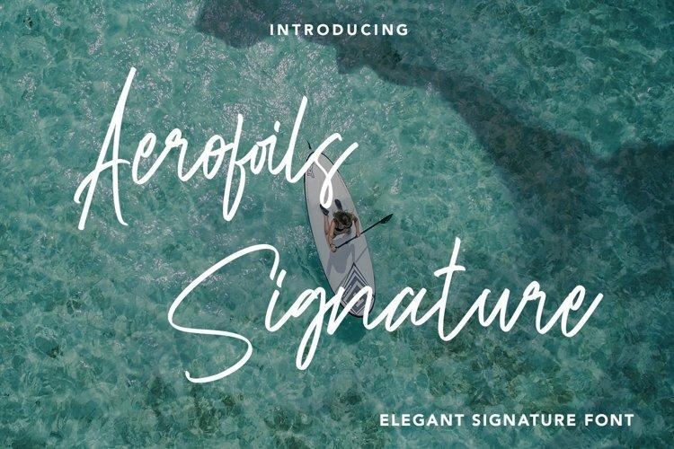 Web Font Aerofoils Signature - Elegant Signature Font example image 1