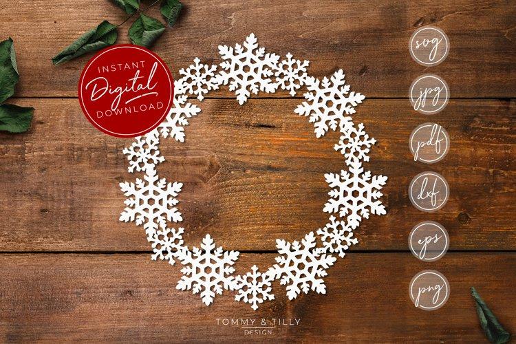 Snowflake Wreath - SVG EPS DXF PNG PDF JPG example