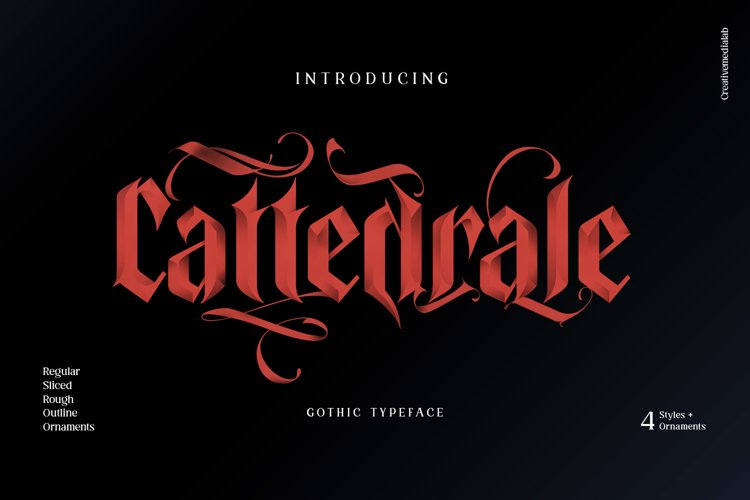 Cattedrale - Gothic Blackletter