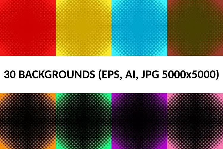 30 Halftone Circle Backgrounds AI, EPS, JPG 5000x5000