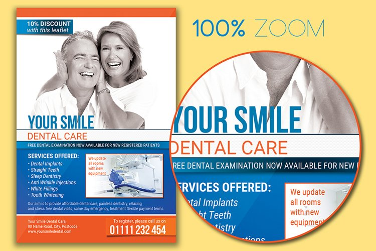 Dental Care Flyer Template example 1