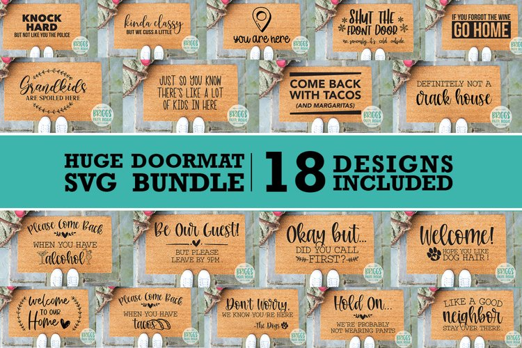 GIANT Doormat SVG Bundle   Funny Doormat SVG