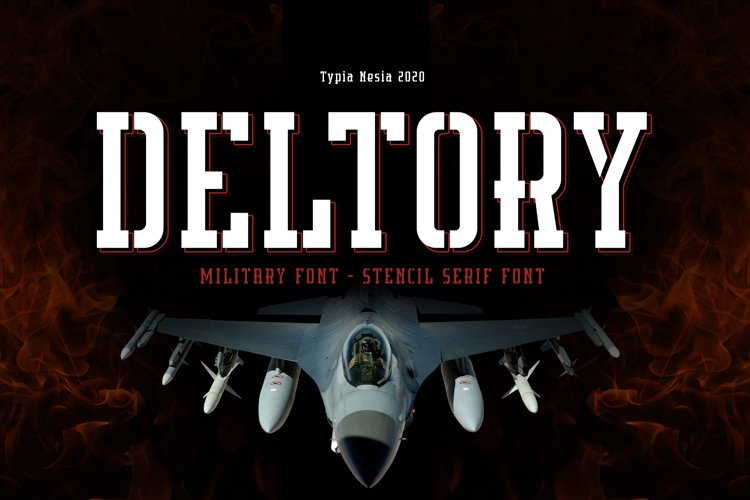 Deltory - Military Font example image 1