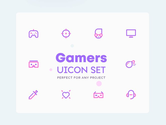 UICON - Gamers Icons Set example image 1
