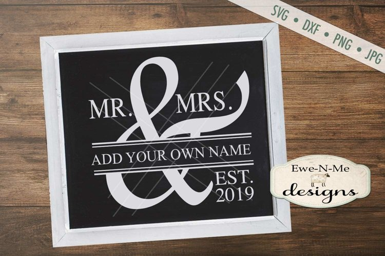 Mr and Mrs Wedding SVG DXF Cut File example image 1