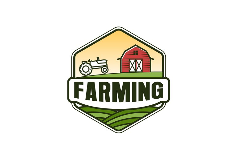 Barn wood agriculture logo - farming growing environment example image 1