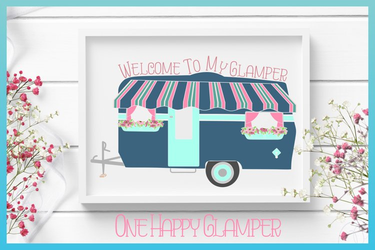Welcome To My Glamper Happy Glamping Camping SVG example image 1