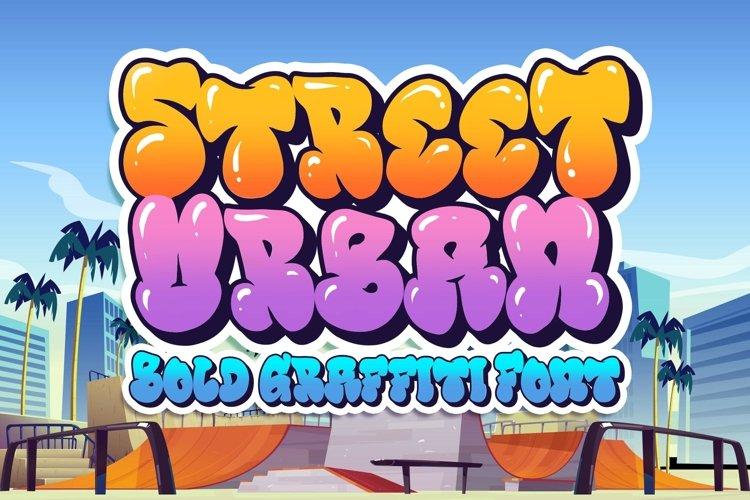 Street Urban Graffiti Font example image 1