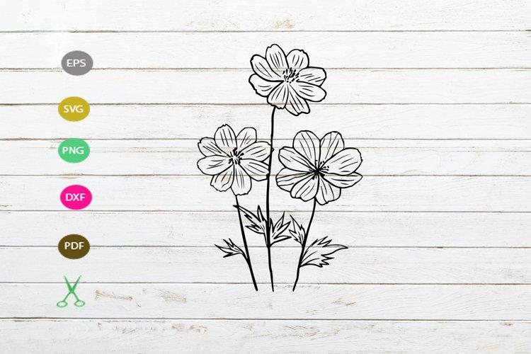 daisy flower svg cut file,daisy silhouette,flower svg cut