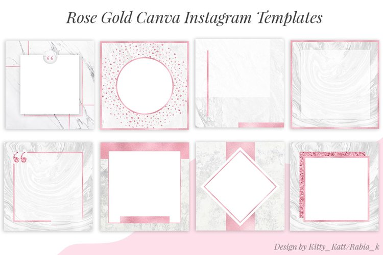 Rose Gold Canva Instagram Templates example image 1