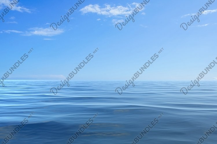 Seascape with blue sea and sky. example image 1