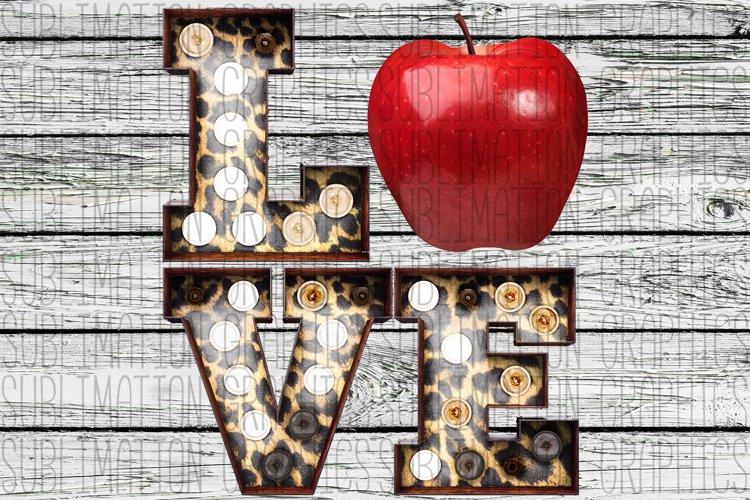Teacher Love Sublimation Digital Download example image 1