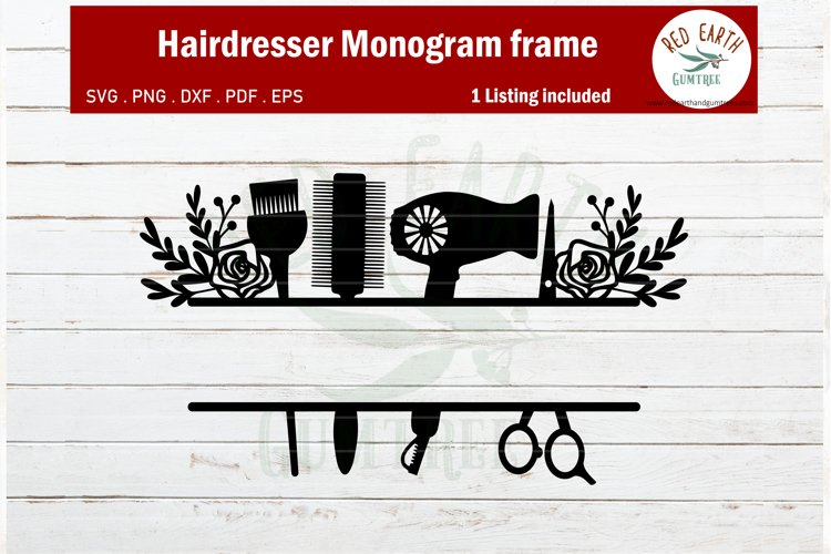Download Floral Hairdresser Monogram Svg Hairstylist Monogram Svg 434622 Cut Files Design Bundles