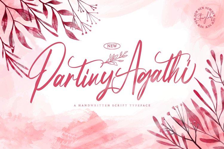 Partiny Agathi - Handwritten Font example image 1