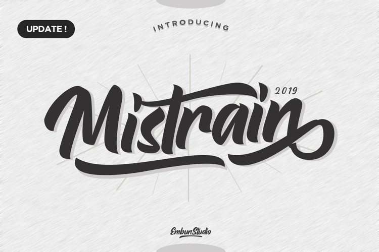 Mistrain Modern Hand Lettering example image 1