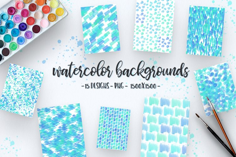 Summer Watercolor Backgrounds
