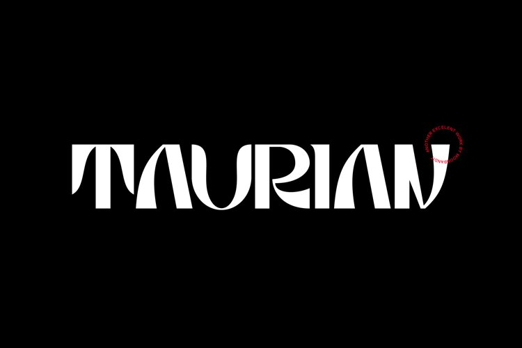 Taurian - bold and elegant display typeface example image 1