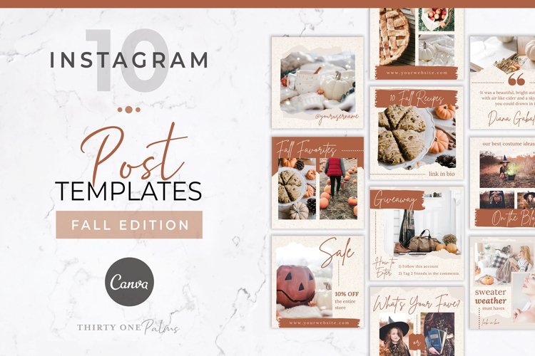 Instagram Post Templates for Canva | Fall Edition