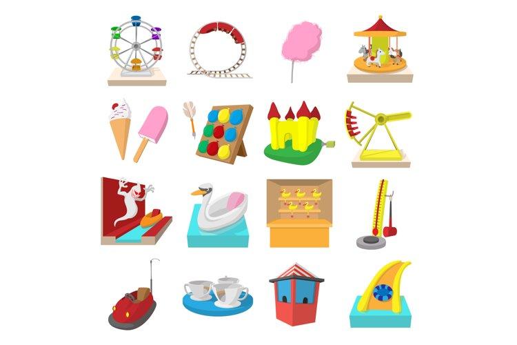 Amusement park cartoon icons example image 1