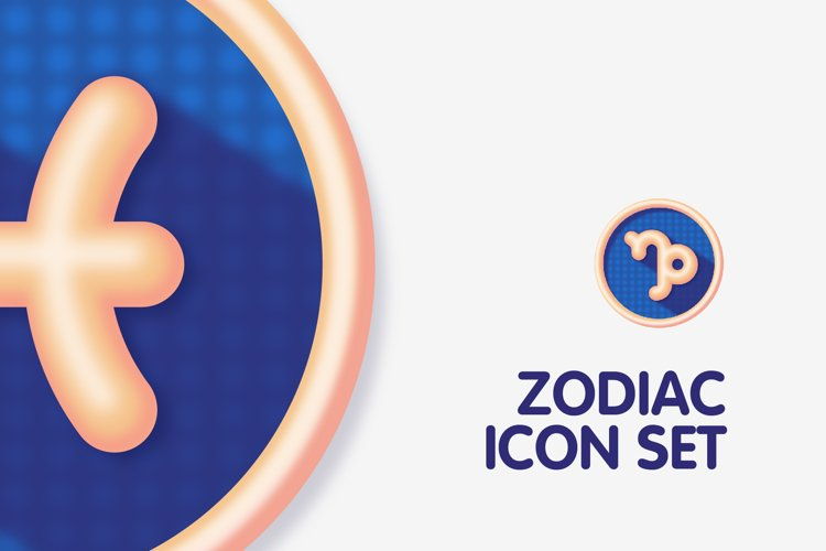 Colourful Zodiac Astrology Signs Icon Set example 3