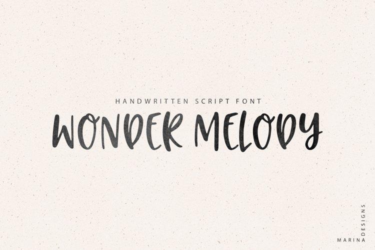 Wonder Melody handwritten script font example image 1