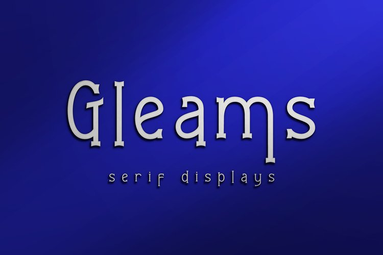 Gleams Serif Display