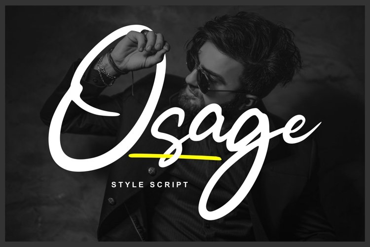 Osage | Style Script Font example image 1