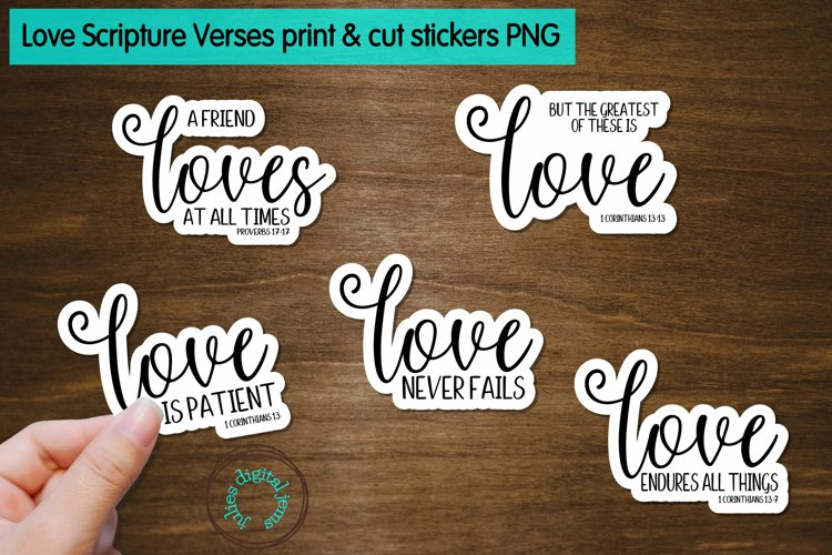 Love Scripture Verses Printable Stickers