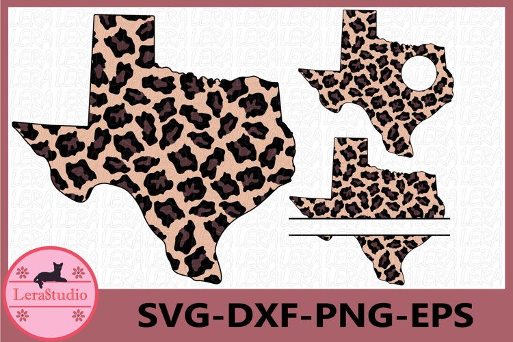 Texas State SVG, leopard Svg, Texas Frames