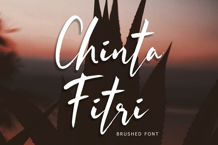 Chinta Fitri Brush Font example image 1