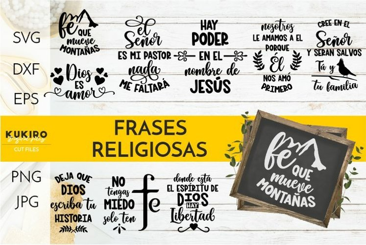 Frases religiosas SVG BUNDLE - Frases bíblicas - cut files