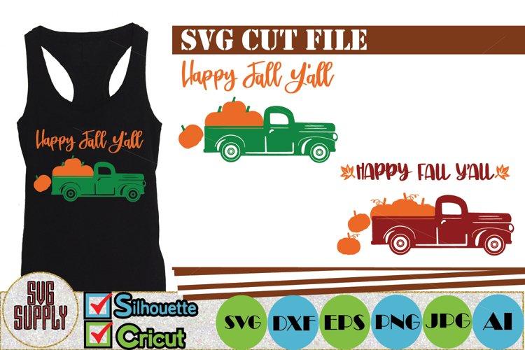 Happy Fall Yall SVG Cut File