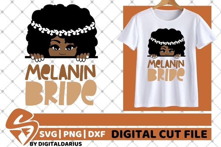 Bride svg, Wedding svg, Black Woman svg, Melanin Bride, Sub example image 1