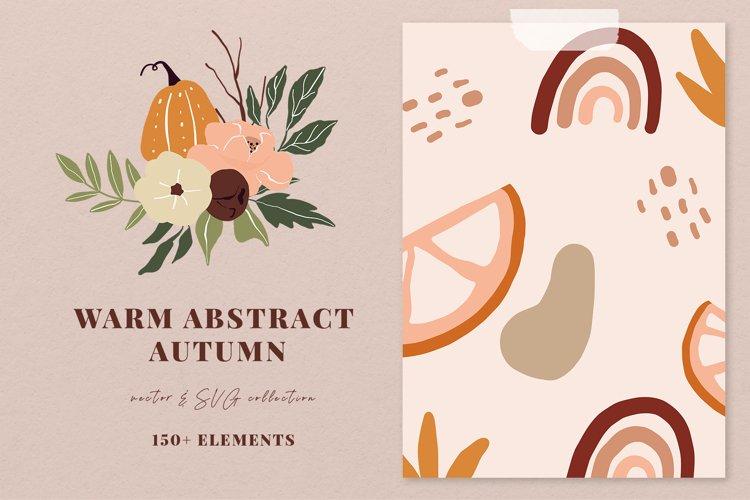 WARM ABSTRACT AUTUMN collection, autumn vector clipart
