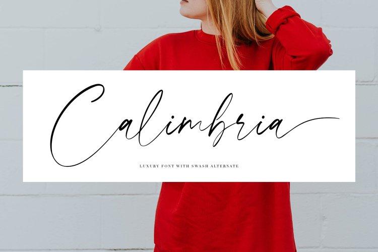 Calimbria Font example image 1