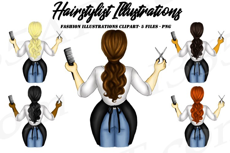 Hairdresser Clipart Career Woman Clipart Hair Stylist PNG example image 1