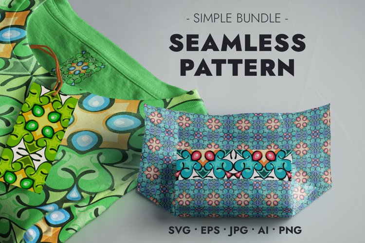 Seamless Pattern - Colorful Natural Decor in Cartoon Style
