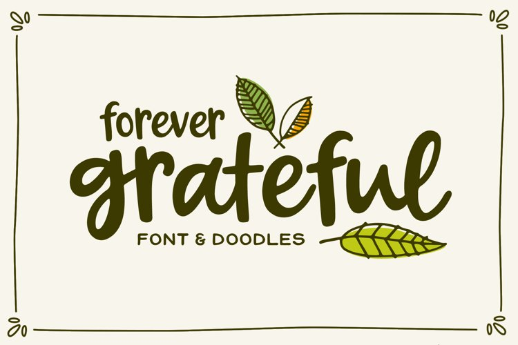 Forever Grateful Font & Doodles example image 1
