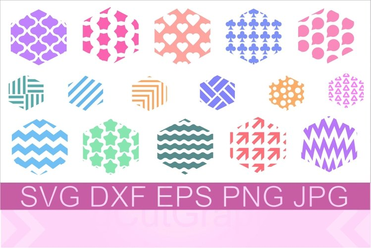 Keychain Hexagon Pattern SVG PNG DXF example image 1