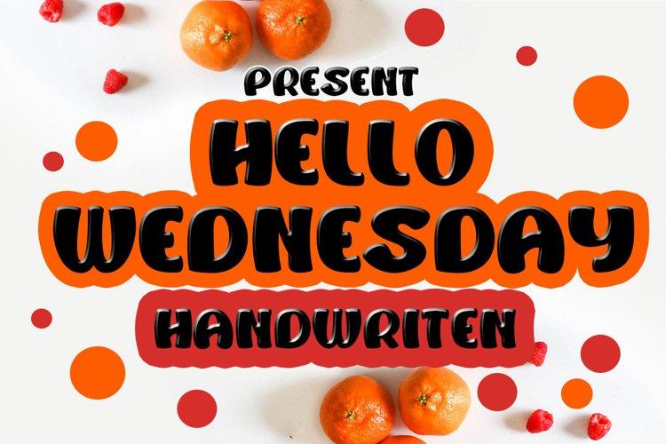 Hello Wednesday example image 1