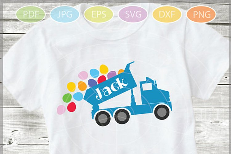 Easter Truck with eggs - Easter Truck svg - Dump truck svg example image 1