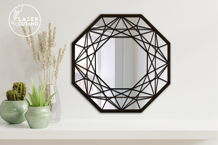 Multilayer Cut File Round Wall Mirrow Frame example 3